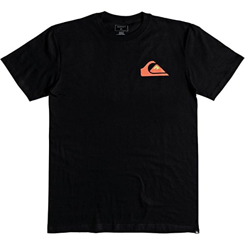 (Quiksilver Men's Logo TEE Shirt, vice Versa Black, M)