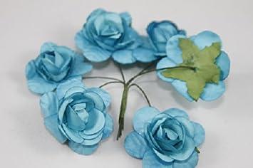Amazon small rose bulk paper flowers 125 turquoise 144 stems small rose bulk paper flowers 125quot turquoise 144 mightylinksfo