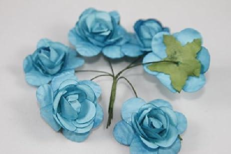 Amazon mini rose bulk paper flowers 05 turquoise 144 stems mini rose bulk paper flowers 05quot turquoise 144 mightylinksfo