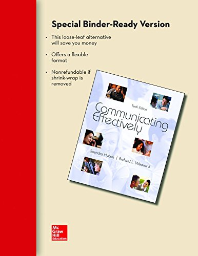 Looseleaf for Communicating Effectively