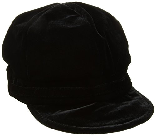 Nine West Women's Velvet Newsgirl Hat, Black, One Size
