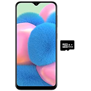 Samsung Galaxy A30S w/On-Screen Fingerprint (64GB, 4GB) 6.4″, Triple Camera, Dual SIM GSM Unlocked A307G/DS – US + Global 4G LTE International Model (Prism Crush Black, 64 GB)
