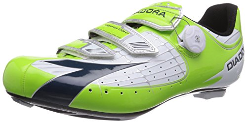 Diadora Men's Vortex Comp Road Cycling Shoe - 160847 (Lime Green/Navy - 42)