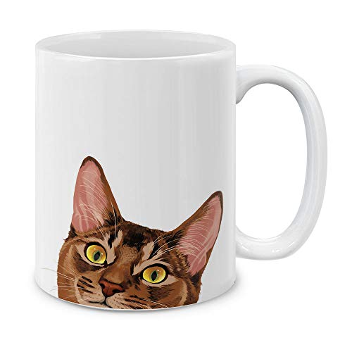 MUGBREW Red Abyssinian Kitten Cat Ceramic Coffee Gift Mug Tea Cup, 11 OZ