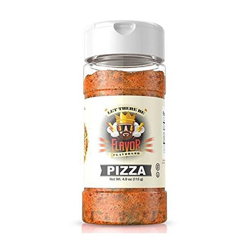 Flavor God - Gluten Free Zero Calories Seasoning - Great For Meal Prep, Diet (Pizza Seasoning)