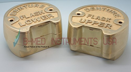 Set Of Dental Bronze Denture Flask Upper & Lower Lab Laboratory Supply by B-Med Instruments