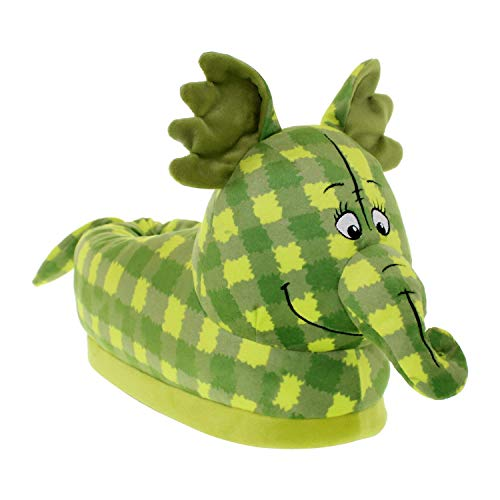 7015-4 - Disney Winnie The Pooh - Green Pooh Heffalump Slippers - X-Large/XX-Large - Happy Feet Mens and Womens - Tank Dog Princess