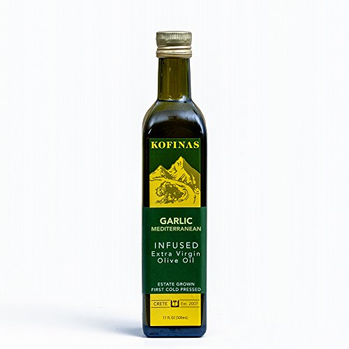 - Garlic Mediterranean Flavor Extra Virgin First Cold Pressed Olive Oil 500 Ml (17 Oz) (Rosemary, Thyme, Basil, and Garlic)