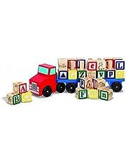 Melissa & Doug Alphabet Wooden Truck Blocks