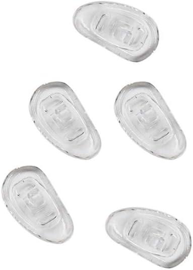 Ogquaton Almohadillas para Nariz Ojales de Silicona Almohadillas para Nariz Sunglass Comfort para Evitar Que Las Gafas se deslicen 25 Pares