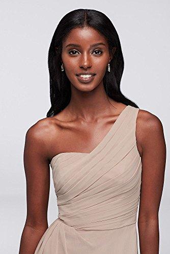 One Style Bridesmaid Bellini Chiffon Dress Shoulder Crinkle F19446 HB6xv6