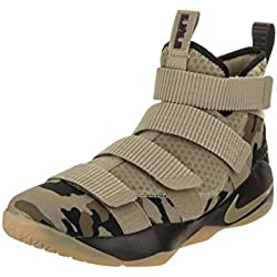 NIKE Lebron Soldier Xi Size 11 Mens Basketball Neutral Olive/Neutral Olive-Sequoia Shoes