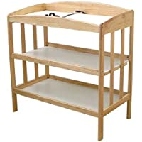 LA Baby 3 Shelf Wooden Changing Table, Natural (Discontinued by Manufacturer)