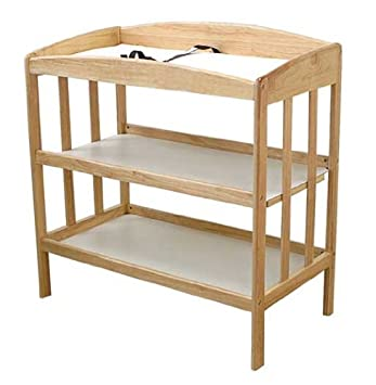 Awesome LA Baby 3 Shelf Wooden Changing Table, Natural (Discontinued By  Manufacturer)