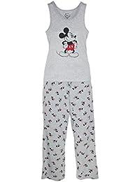 Mickey Mouse Womens Tank and Pant Pajama Set