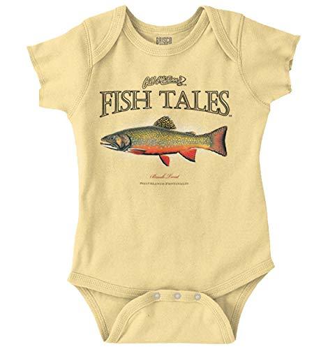 Fish Tales Brook Trout Deep Sea Fisherman Romper Bodysuit (Best Bait For Brook Trout)