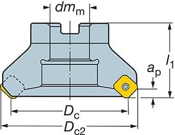 Sandvik Coromant Ra245 152r38 12m Coromill 245 Face