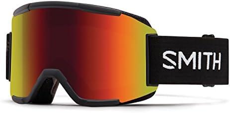 Smith Optics Mens Squad Goggles, Black Red Sol-X Mirror Yellow – OS