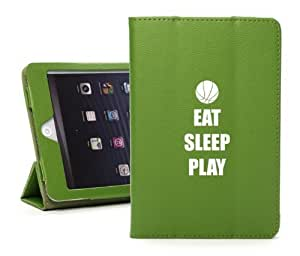 Apple iPad Mini Green Faux Leather Magnetic Smart Case by ruishername
