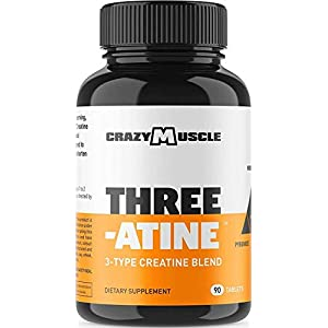 Creatine Pills – Keto Friendly Muscle Builder – 1,667 mg Tablets (100% + More Than Capsules) – Over 5000mg (5 Grams) of Creatine Monohydrate, Pyruvate + AKG – Optimum Strength Bodybuilding Supplements