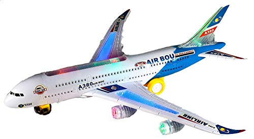LilPals' Live Action Toy Jetliner - Airbus A380 - Jet Jumbo Airplane Plane
