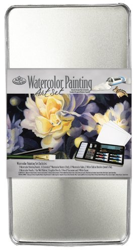 Royal & Langnickel Large Tin Watercolor Painting Art Set