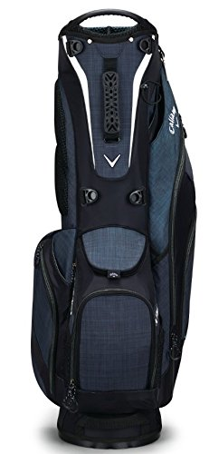 Callaway Golf 2018 Fusion Stand Bag, Black/ Titanium/ White