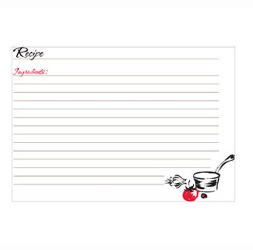 C.R. Gibson Red Blank Recipe Cards, 40 pc, 5'' W x 7'' L ()