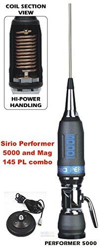 Sirio Performer 5000 PL 10m & CB Mobile Antenna with Sirio Mag 145 PL Mag Mount