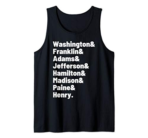 American Founding Fathers Fourth of July USA Graphic Top Tank Top