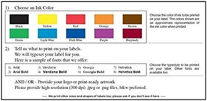 Amazon com : Custom Printed Mailing Labels, Continuous
