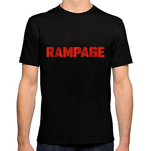 Rampage Dwayne Jhonson Movie T Shirt (Black, XL)