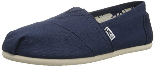 TOMS Women's Canvas Slip-On,Navy Canvas,5.5 M
