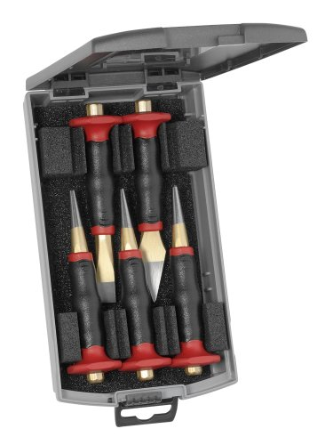Rennsteig Premium 5 Piece Punch & Chisel Set with Hand Guard