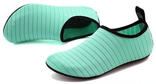 Aosifu Barefoot Water Schoenen Aqua Sokken Surf Zwembad Yoga Strand Zwem Oefening Voor Heren En Dames Groen