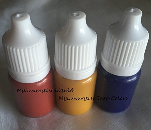 Liquid Soap Sample Colors 0.50 Ounces Red Yellow Blue 5 mL each Lot of 3 Cosmetic Pigment Colorants