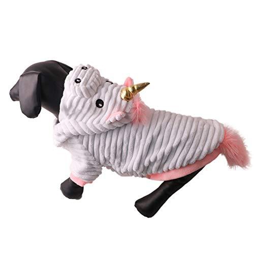 Unicorn Dog Costume Funny Halloween Pet Costume, Adjustabale Puppy Unicorn Cosplay Mane Hat Headgear Accessory for Small Medium Large Dogs - Halloween Festival Birthday Party Photo Props]()