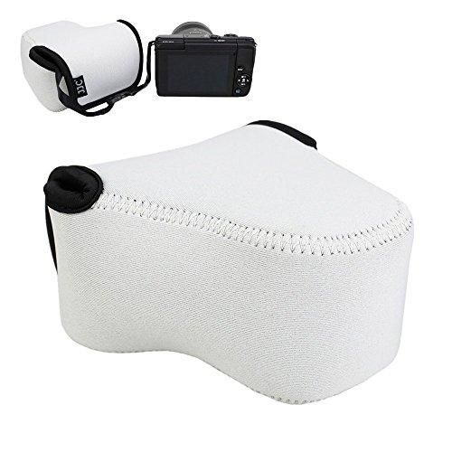 JJC 4.4x2.7x4.4 Camera Case Pouch for Canon M100 M6 M10 M3 M2 Camera Body+EF-M 15-45mm Lens/11-22mm/18-55mm Lens, for Nikon 1 J5 J4 J3 J2 J1+10-100mm/30-110mm Lens Coolpix L830 L820 L810-Grey