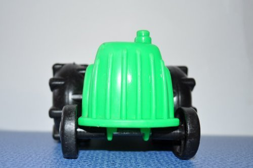Vintage Little People Green Farm Tractor 1995 Retired Replacement Figure - Fisher Price Zoo Doll Circus Ark Toy Pet Shop (Little Tractor Green)