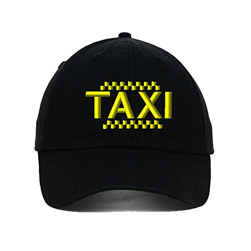 Speedy Pros Taxi Driver Cab Embroidery Twill Cotton 6 Panel Low Profile Hat (Cab Driver Hats)