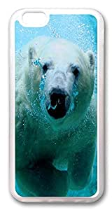 ICORER iPhone 6 Case Polar Bear Customize Designer Apple iPhone 6 Case and Cover TPU Rubber Transparent