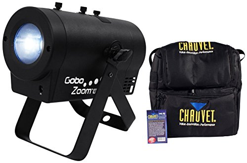 Package: Chauvet DJ Gobo Zoom USB Compact Custom Gobo Projector Light With 10 Wedding Ready Gobos + D-FI USB Ready + Chauvet DJ CHS-40 Rugged Travel Bag With Dual Compartments by Chauvet