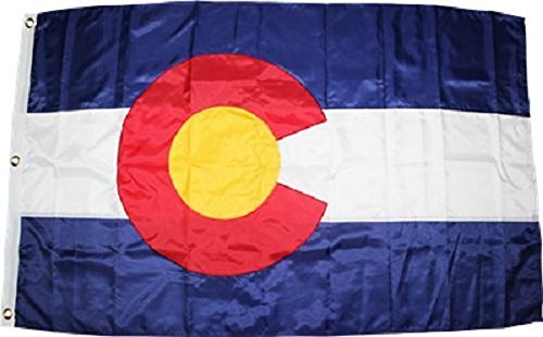 AES 3x5 Colorado CO State Embroidered Sewn 300D Military Grade Nylon Flag 3'x5' Banner with -