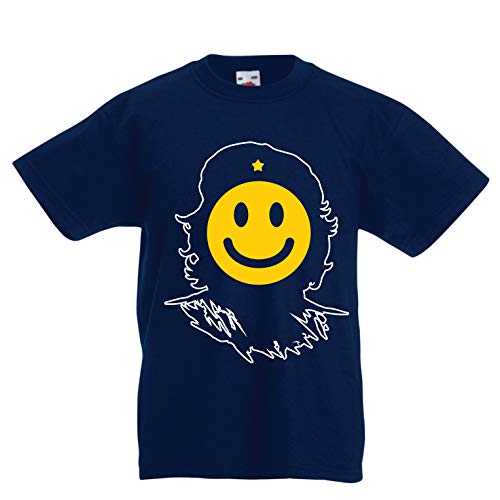 lepni.me Kids T-Shirt Anti-Communism, Political Protest Che Guevara Emoji (9-11 Years Dark Blue Multi Color)