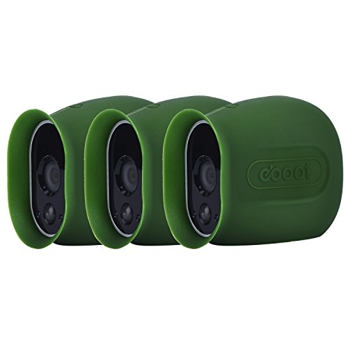 eBoot Silicone Skins for Arlo Smart Security Wire-Free Cameras, 3 Pack (Green)