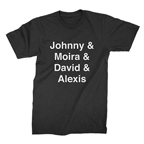 Schitts Creek T Shirt Johnny Moira David Alexis Creek Names Black