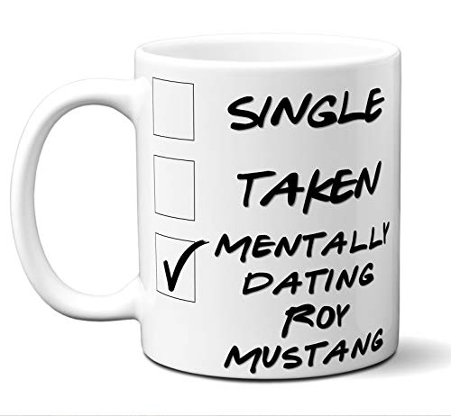 Funny Roy Mustang Cosplay Costume Lover Mug, Coffee, Tea Cup. Ideal Novelty Gift for Fullmetal Alchemist Fans Manga, Otaku, Japan, Naruto, Japanese Anime Lovers. 11 oz.