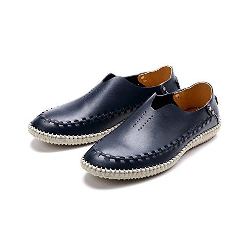 Oxford Comfort Blue Uomo Scarpe Nuovi Pelle Estate Cava Scarpe in Traspiranti Sandali Casual I da Piedi da Uomo rBqrT
