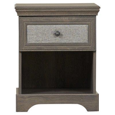 August Grove Middleton 1 Drawer Nightstand, Oak