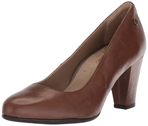 (Hush Puppies Women's Minam Meaghan Pump, Brown, 9.5 W US)